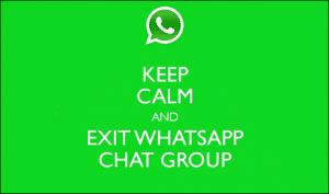 Leave WhatsApp
