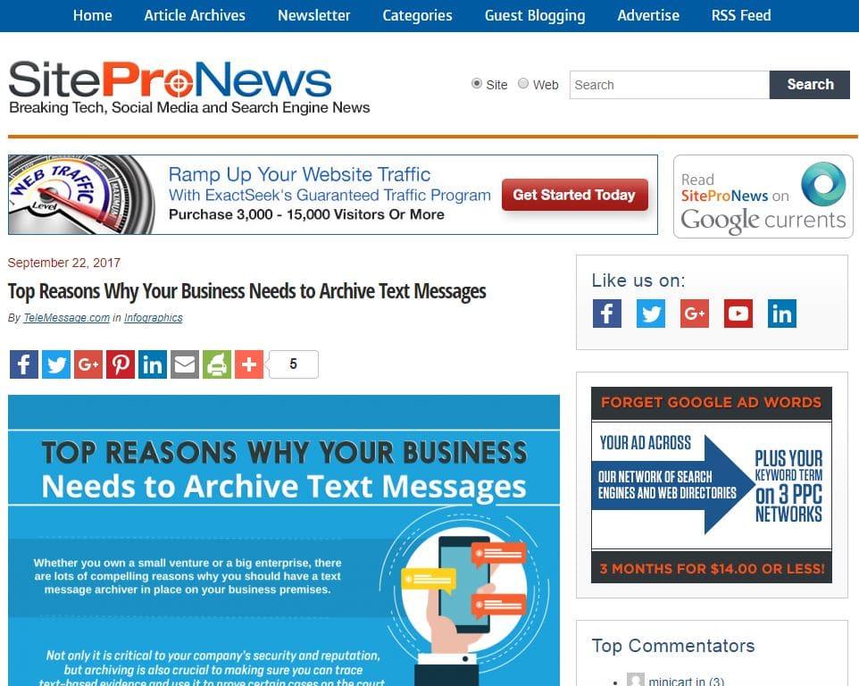 telemessage-infographic-featured-in-sitepronews